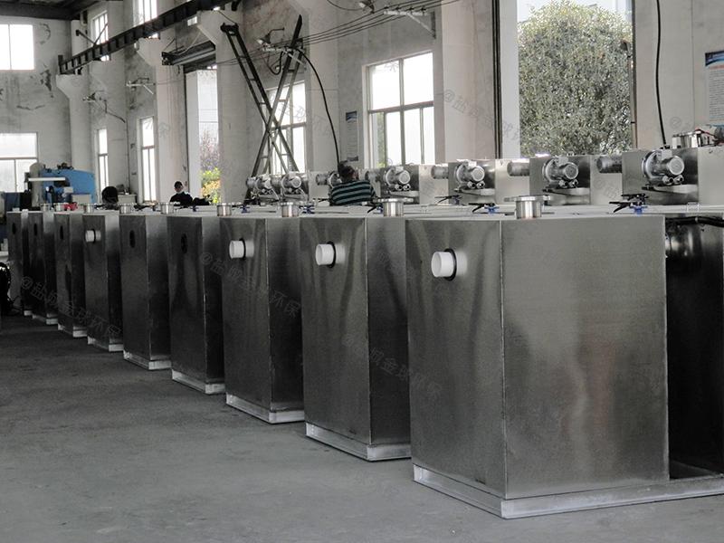 德州施工现场食堂下水除渣隔油提升一体化装置的图纸