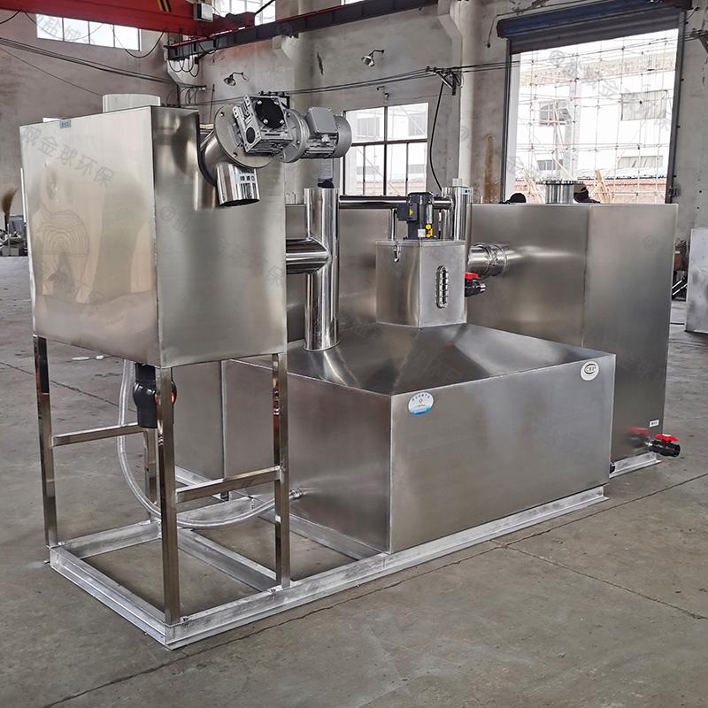 淄博农村环保厨房下水除渣隔油提升装置的做法