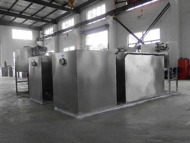 东营饮食业食堂下水道油水分离器容积率
