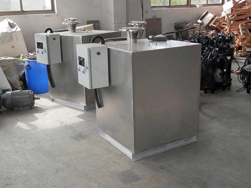 东营饮食下水道除渣隔油提升装置图集cad