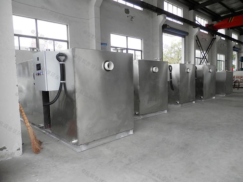 济宁斜板式厨房下水除渣隔油提升一体化装置去油