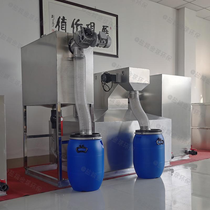 莱芜排水沟下水除渣隔油提升装置的选型