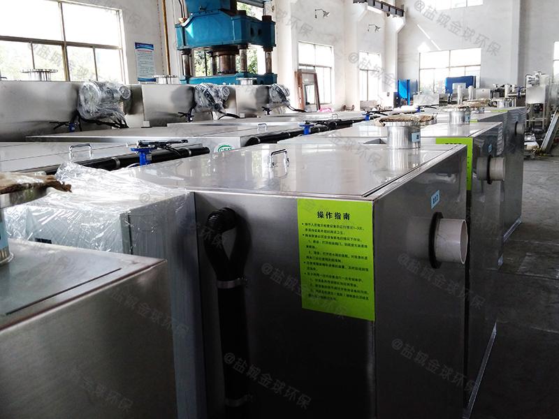 枣庄餐饮小型下水隔油提升设备节点图