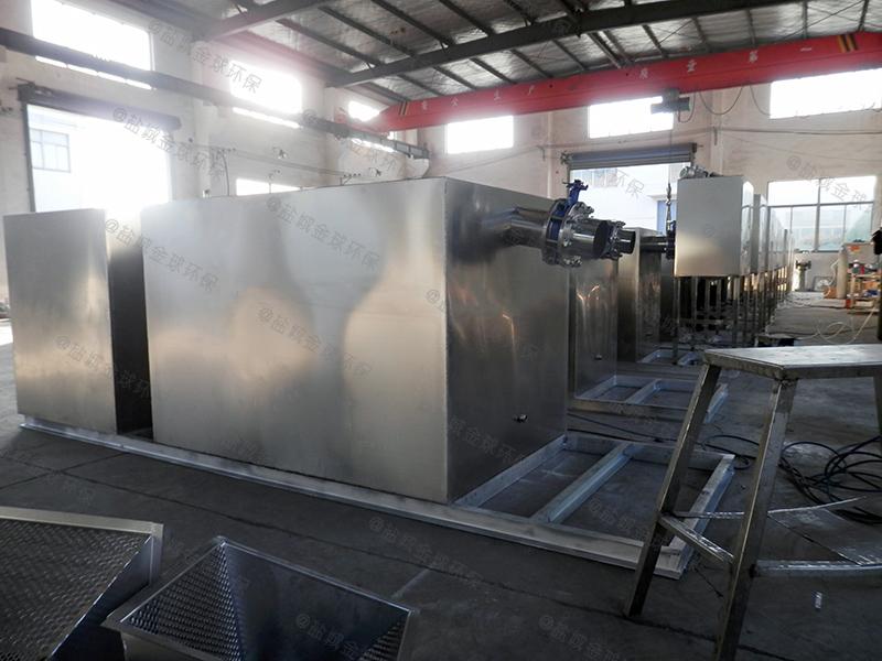 潍坊火锅店用的厨房下水油水分离器照片
