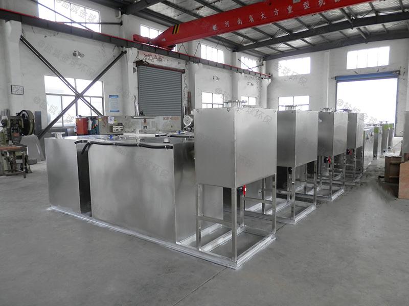 青岛餐饮小型食堂下水道油水分离设备设计要求