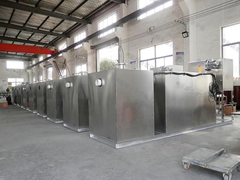 菏泽后厨成品下水除渣隔油提升一体化设备多大