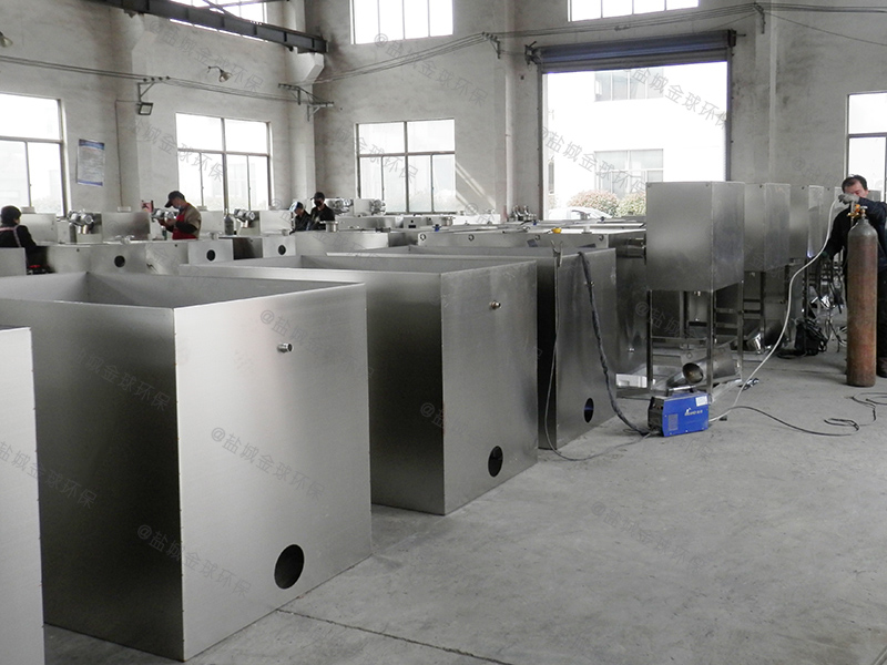枣庄商用厨房下水道油水分离设备整改