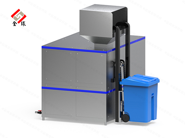 10吨机械式餐厨垃圾处理器处理方法